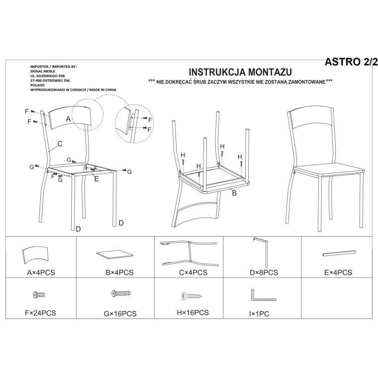 Набор мебели столовой Signal Astro | Дуб сонома - 3