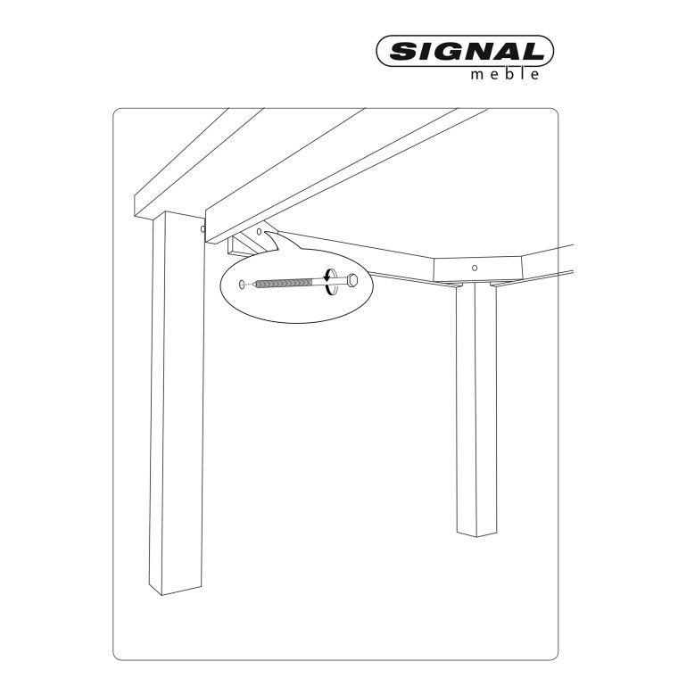 Cтол обеденный Signal Poprad | Медово-коричневый / белая сосна фото - 2