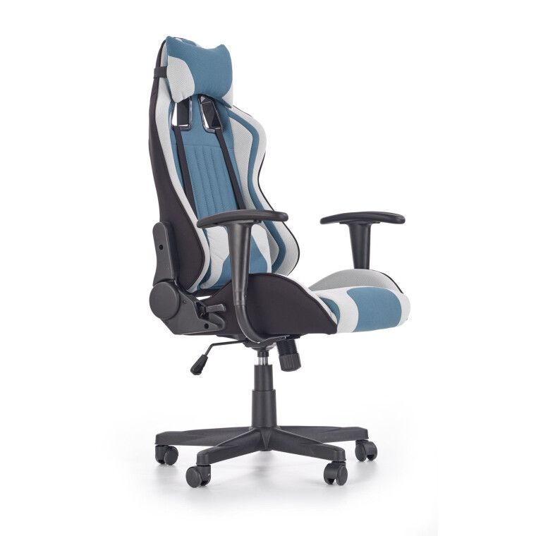 Кресло поворотное Halmar Cayman | Серый / Бирюзовый - 7