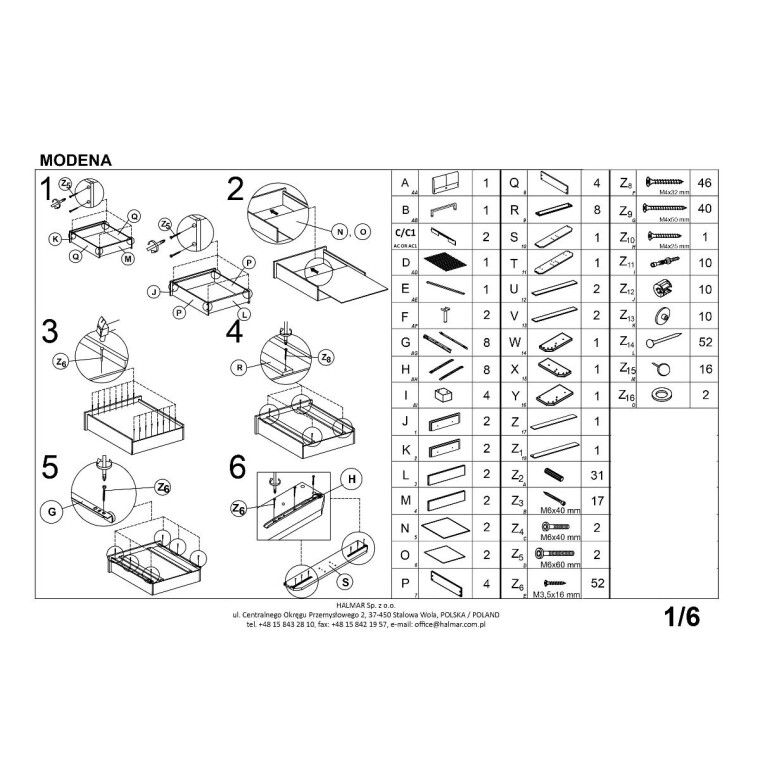 Кровать Halmar Modena   140х200 / Серый - 5