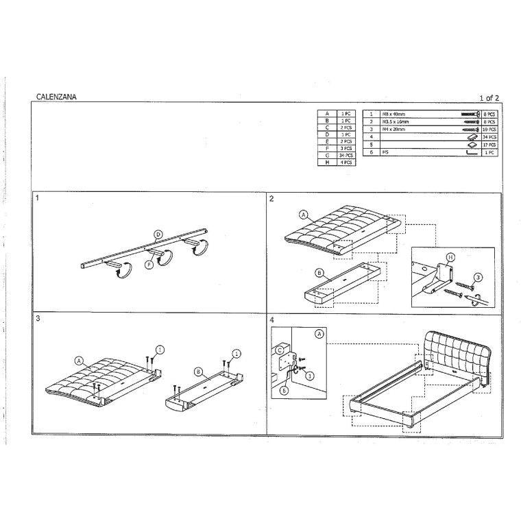 Кровать Signal Calenzana | 160х200 / Белый - 2