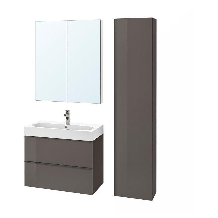 Комплект мебели для ванной GODMORGON / BRÅVIKEN