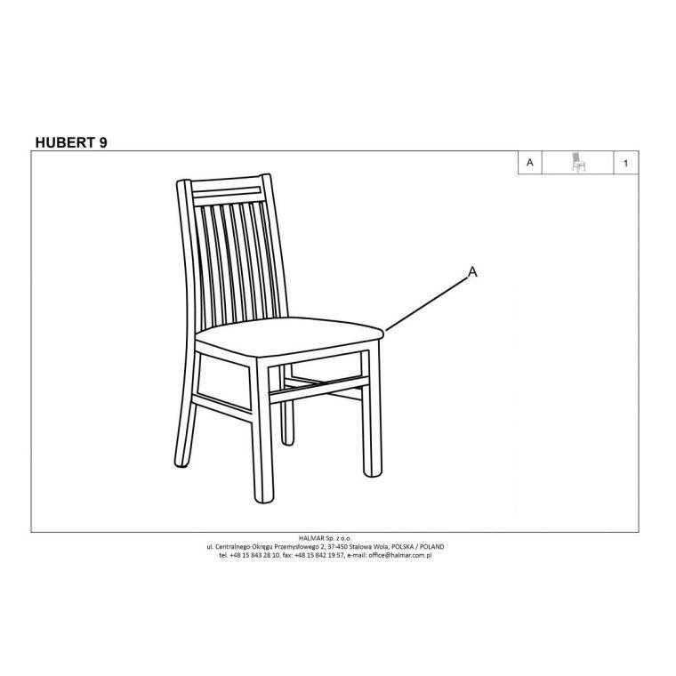 Стул кухонный Halmar Hubert 9 | Дуб сонома / серый (Inari 23) - 2