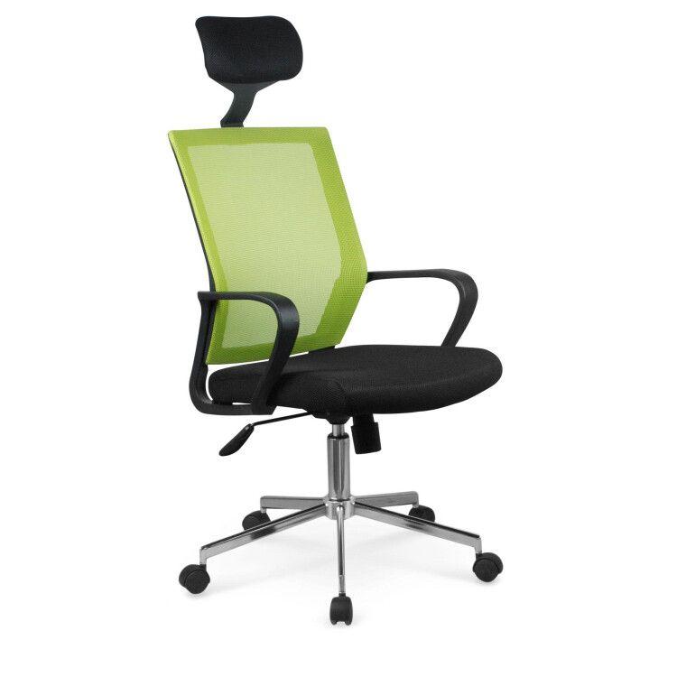 Кресло поворотное Halmar Acapulco | Черный / Зеленый