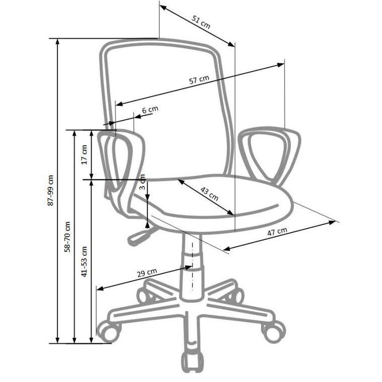 Кресло поворотное Halmar Alex | Черный / Серый - 3