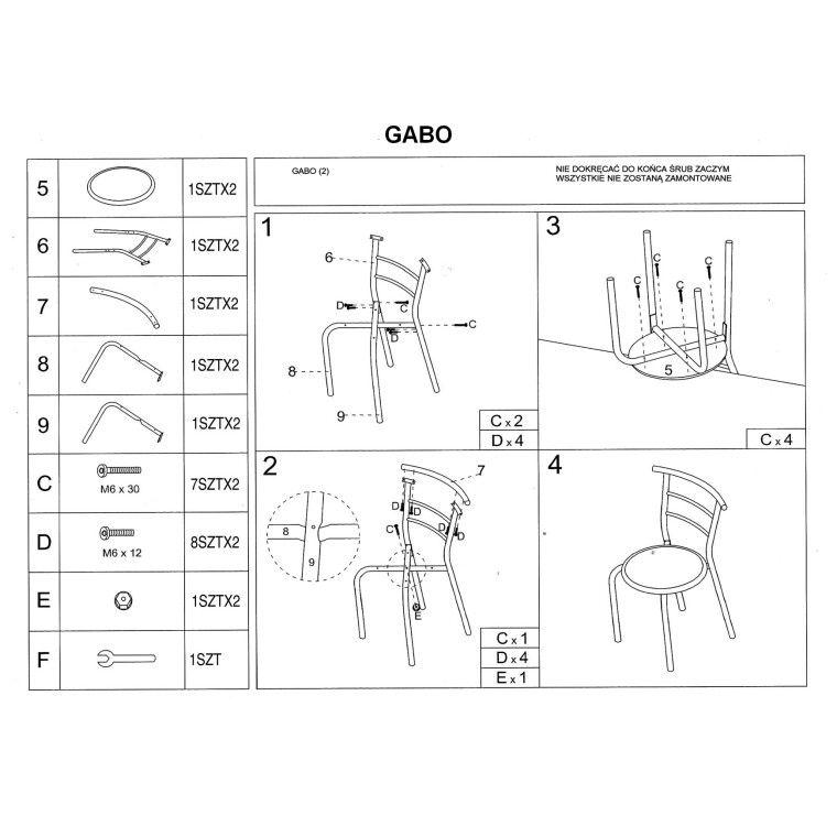 Набор мебели столовой Signal Gabo | Дуб сонома - 3