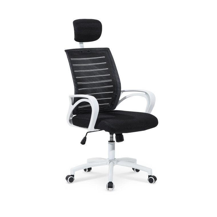 Крісло поворотне Halmar Socket | Чорний / Білий