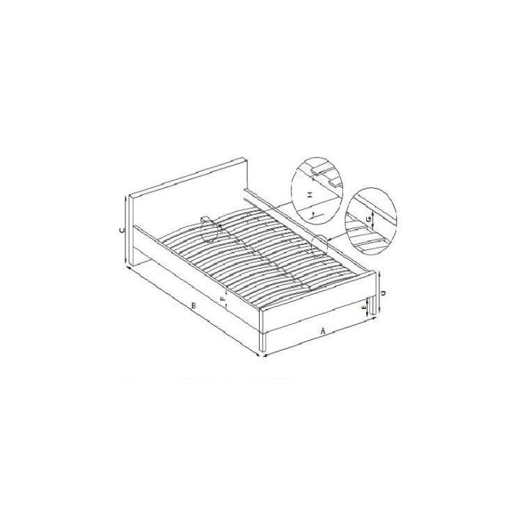 Каркас для кровати Halmar Lima | 160 / Сосна - 2