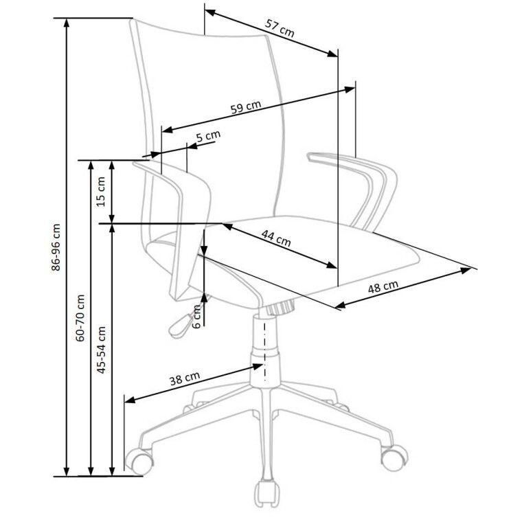 Кресло поворотное Halmar Teddy | Серый - 2