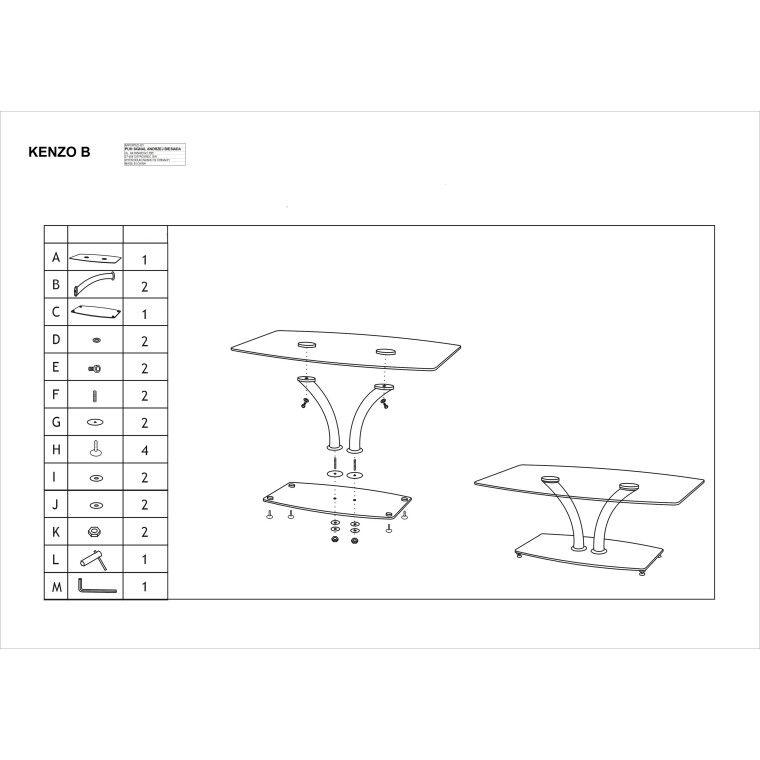 Столик журнальный Signal Kenzo B | Прозрачный - 2