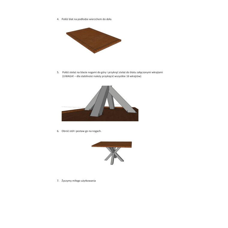 Стол обеденный Signal Cross | Дуб / 90х150 - 4