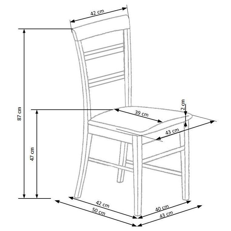 Стілець кухонний Halmar Rafo | Вільха - 2