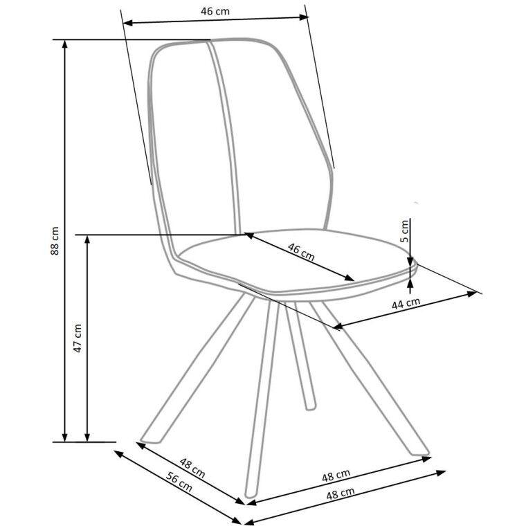 Стул Нalmar K-319 | Коричневый / черный - 2