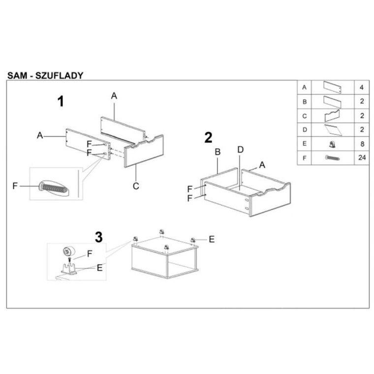 Ящики для кровати двухъярусной Halmar Sam | Ольха - 2