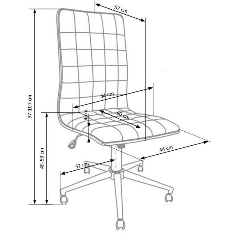 Кресло поворотное Halmar Porto   Черный - 3