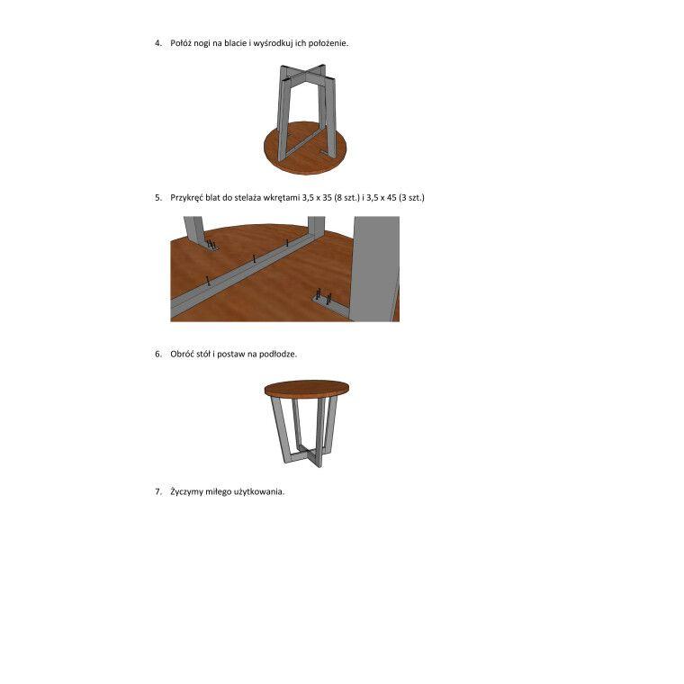 Стол обеденный Signal Cono | Дуб / черный - 5