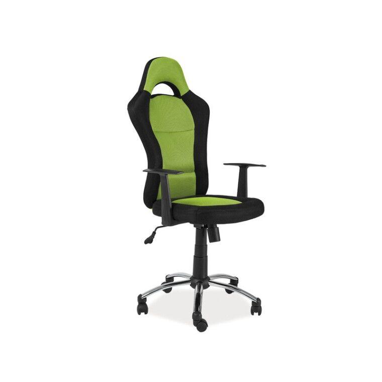 Кресло поворотное Signal Q-039 | Черный / Зеленый
