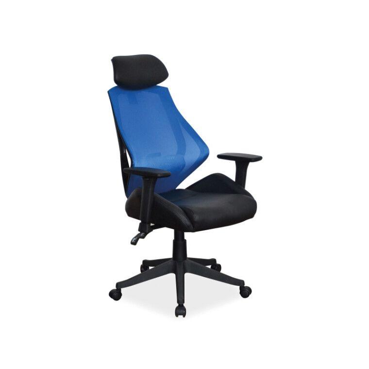 Кресло поворотное Signal Q-406 | Черный / синий