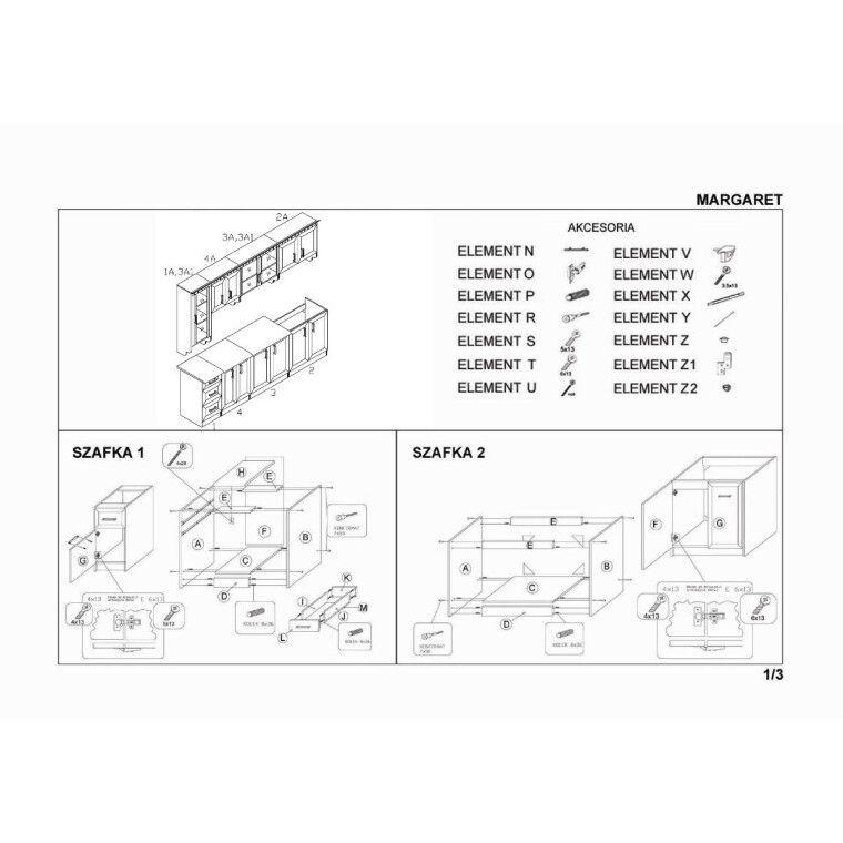 Кухонный гарнитур Halmar Margaret 3 260 | Орех - 3