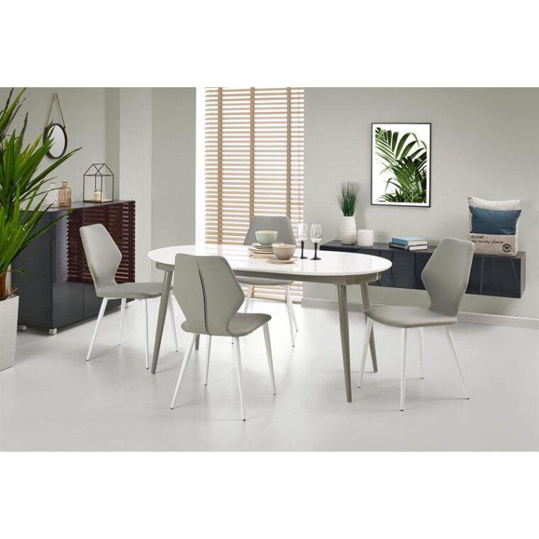 Стол раскладной Halmar Crispin   Белый / серый - 7