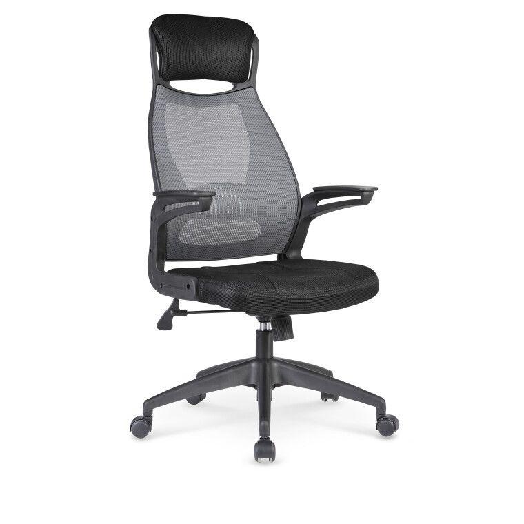 Кресло поворотное Halmar Solaris | Черный / серый