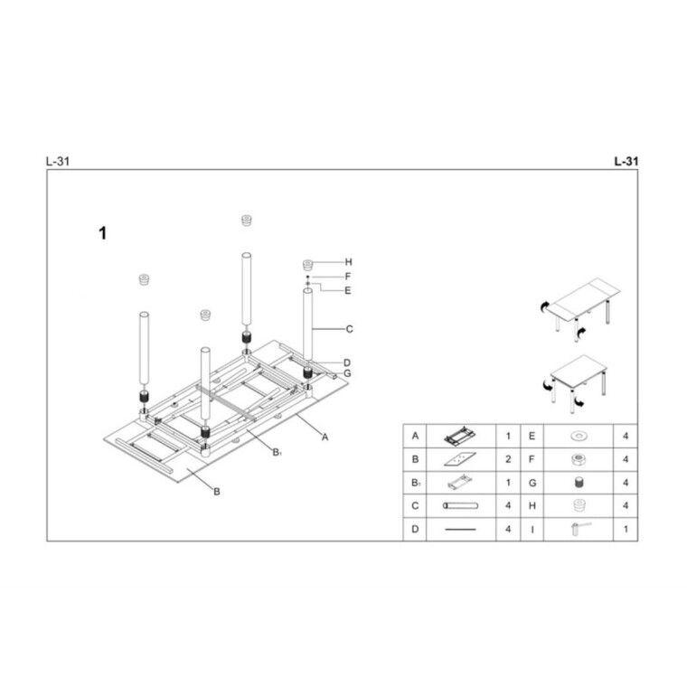 Стол раздвижной Halmar L31 | Бежевый - 2