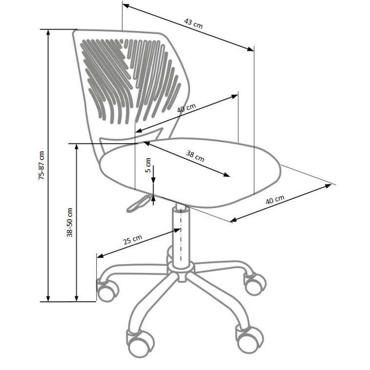 Кресло поворотное Halmar Bali   Розовый - 2