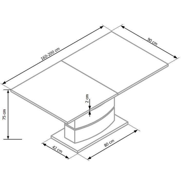 Стол раскладной Halmar Nobel | Белый / Черный - 6
