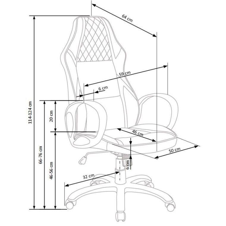 Кресло поворотное Halmar Dodger | Черный / белый - 2
