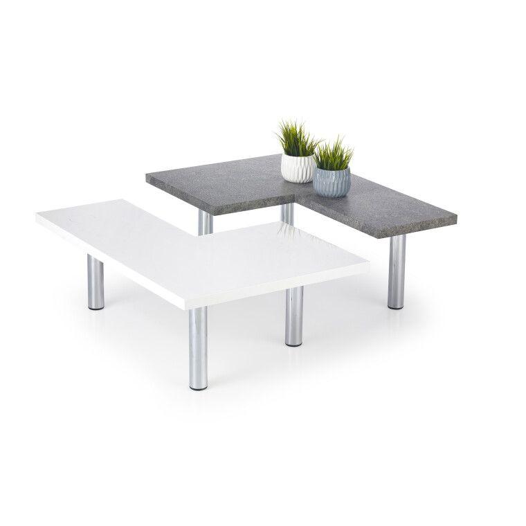 Стол журнальный Halmar Itaka | Белый / Серый - 3