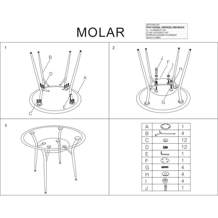 Cтол обеденный Signal Molar | Прозрачный - 3