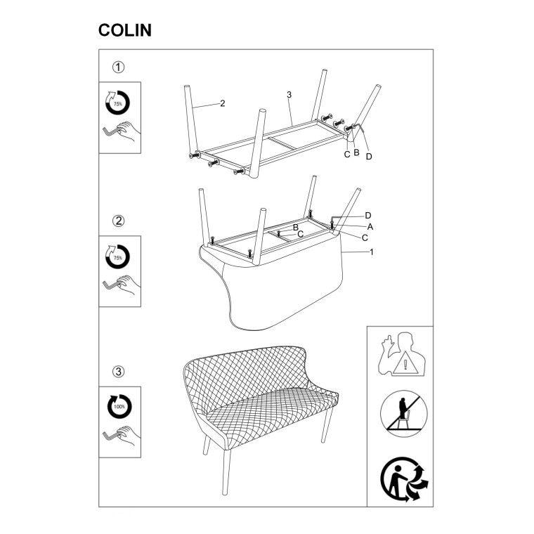 Лавка Signal Colin | Серый - 3