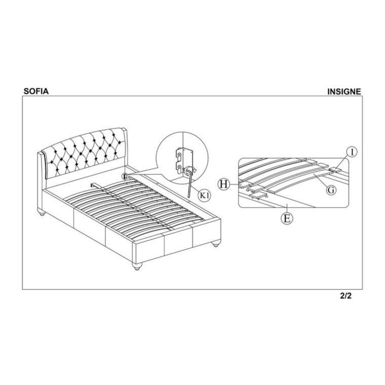 Кровать Halmar Sofia | 160х200 / Белый - 2