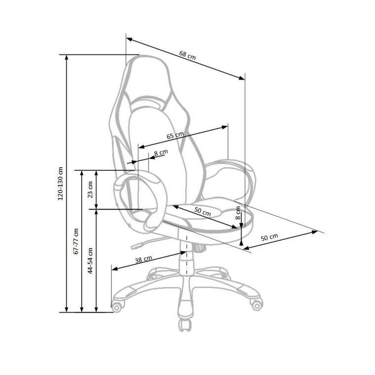 Кресло поворотное Halmar Deluxe | Черный / Белый - 3