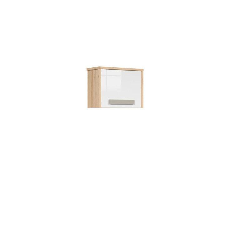 Шкаф навесной BRW Namek | Бук / Белый / Серый фото - 2