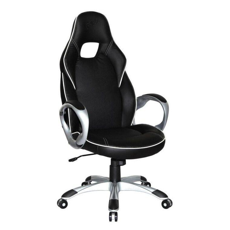 Кресло поворотное Halmar Deluxe | Черный / Белый