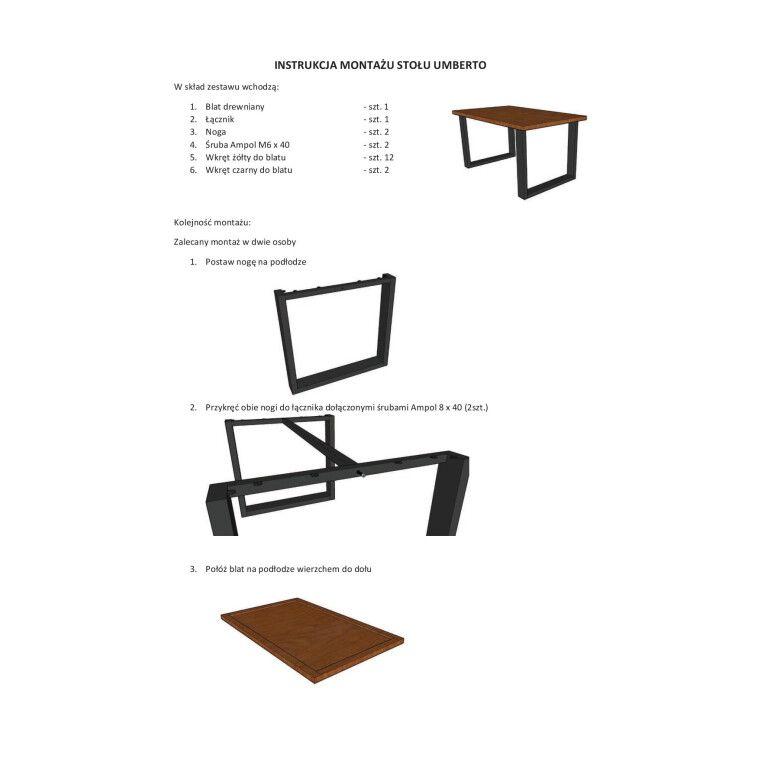 Стол обеденный Signal Umberto | 80х120  / шпон - 2