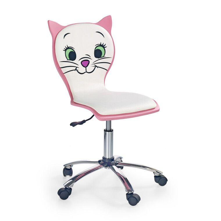 Кресло поворотное Halmar Kitty 2 | Белый / розовый