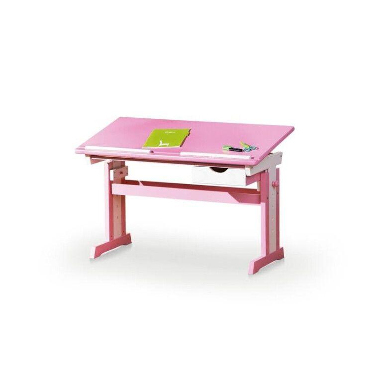 Стол детский Halmar Cecilia | Розовый / белый