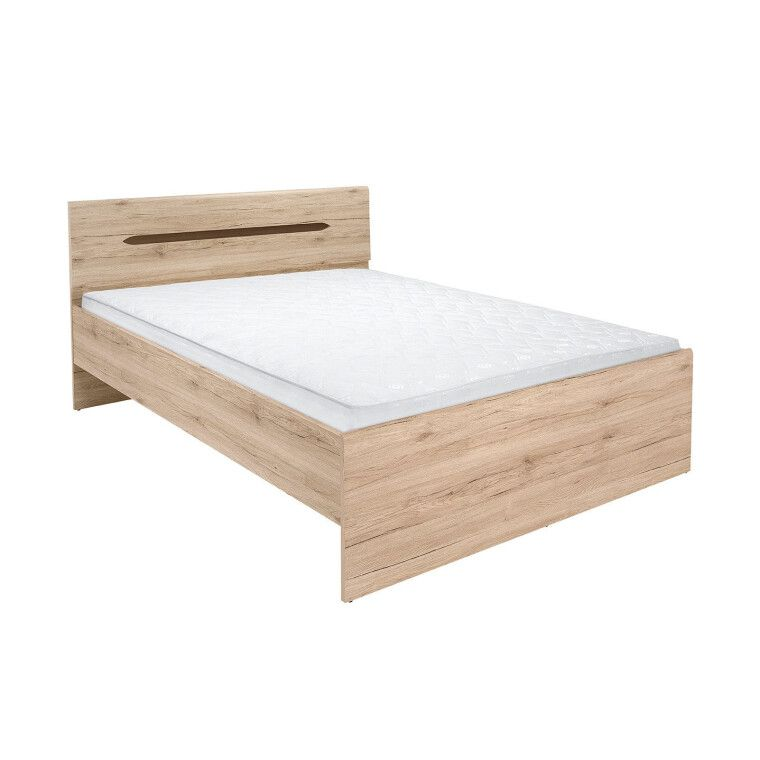 Кровать BRW Elpasso | 160x200 / Дуб сан-ремо светлый - 3