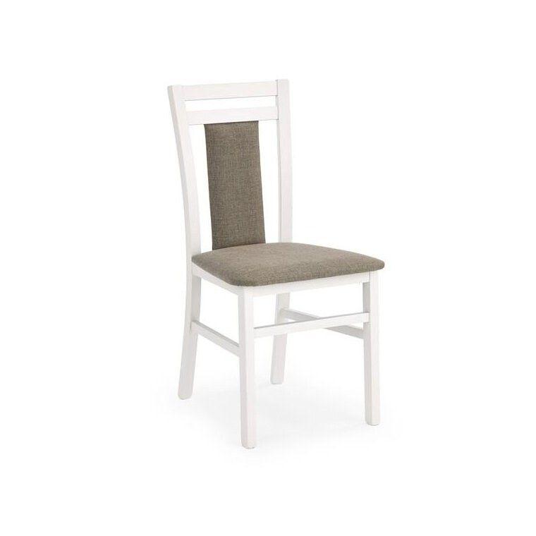 Стул кухонный Halmar Hubert 8 | Белый / серый (Inari 23)