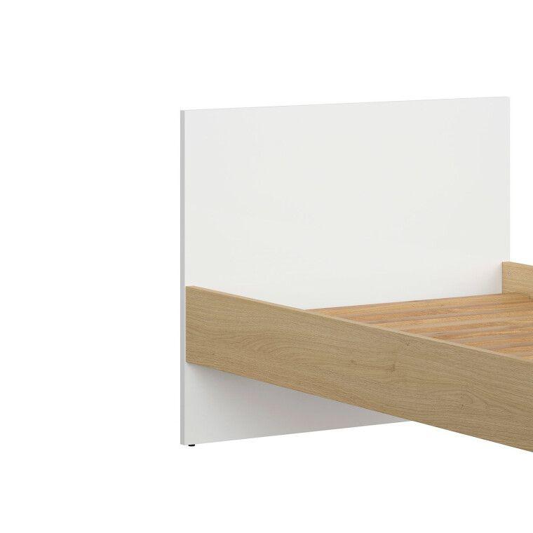 Кровать BRW Princeton | Белый / Дуб польский - 3