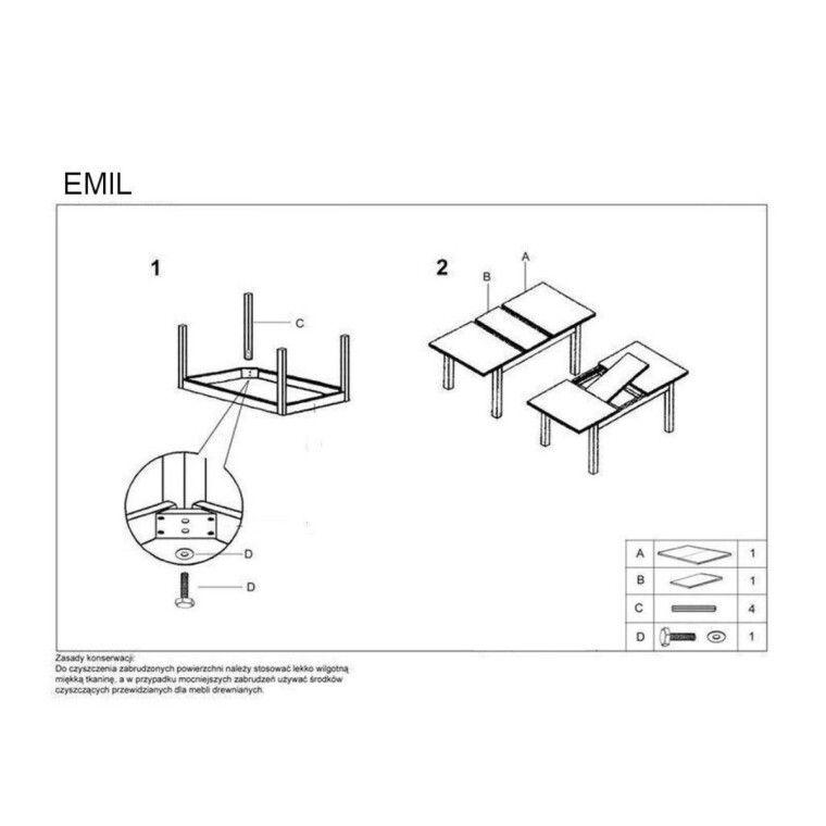 Стол раскладной Halmar Emil   Ольха - 2