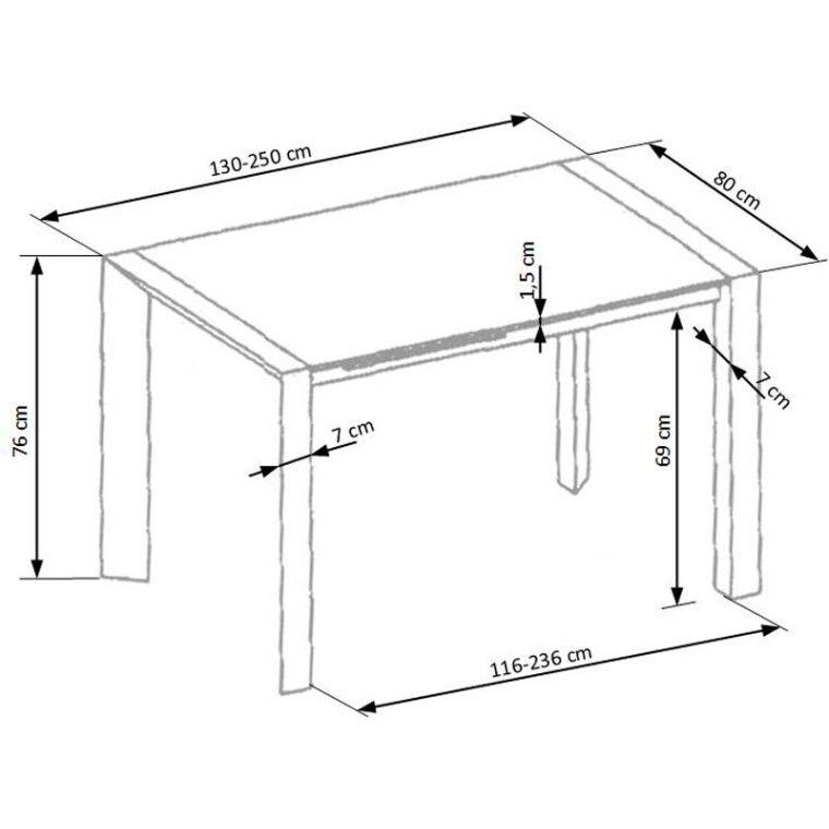 Стол раздвижной Halmar Stanford XL   Белый - 10