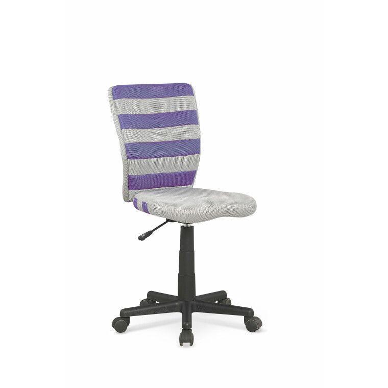 Кресло поворотное Halmar Fuego | Фиолетовый / серый