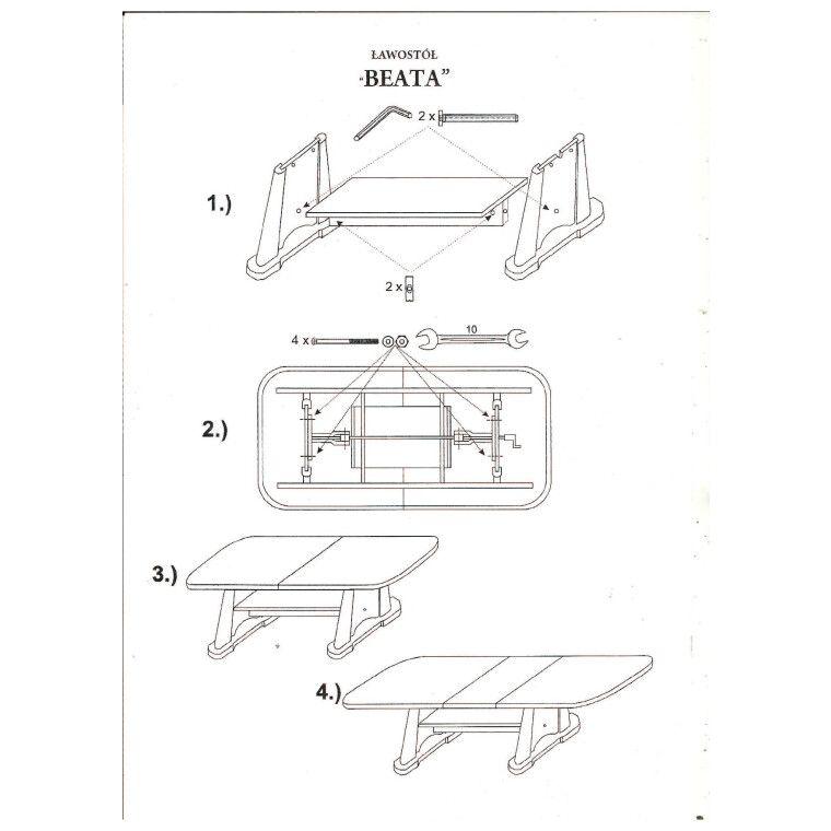 Стол раскладной Signal Beata | Дуб сонома - 2
