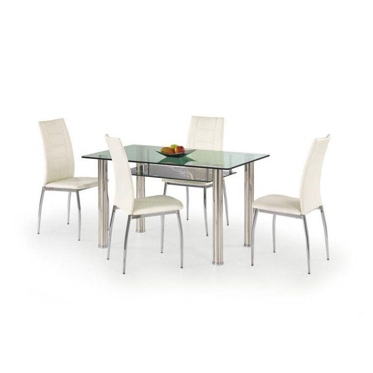 Стол обеденный Halmar Lenart | Прозрачный / Черный узор