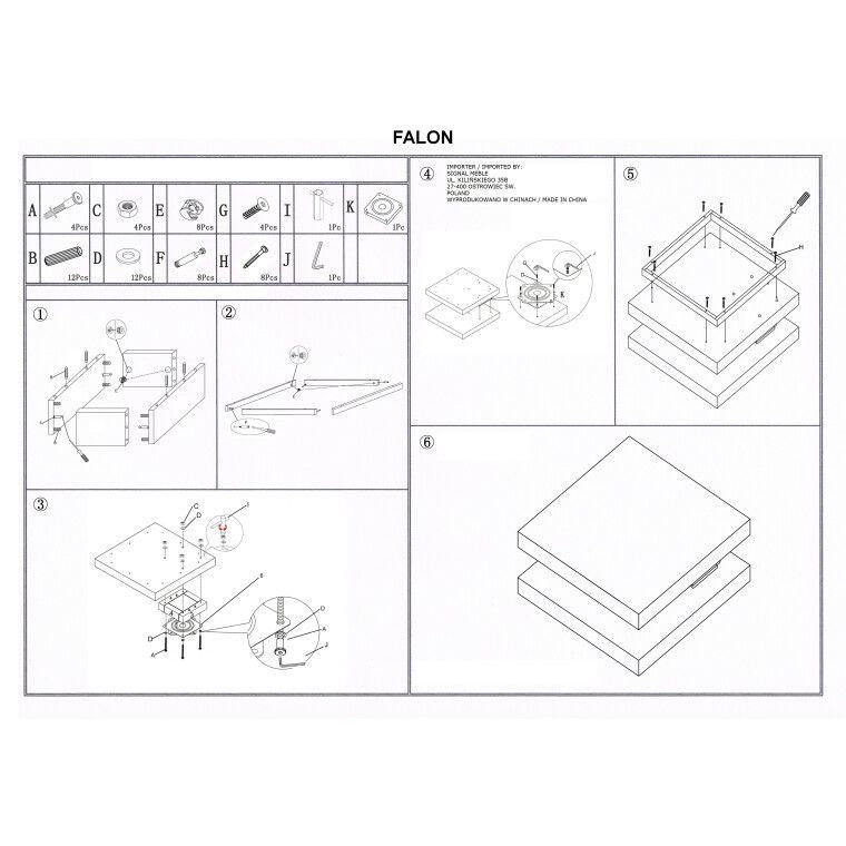 Столик журнальный Signal Falon | Белый - 2