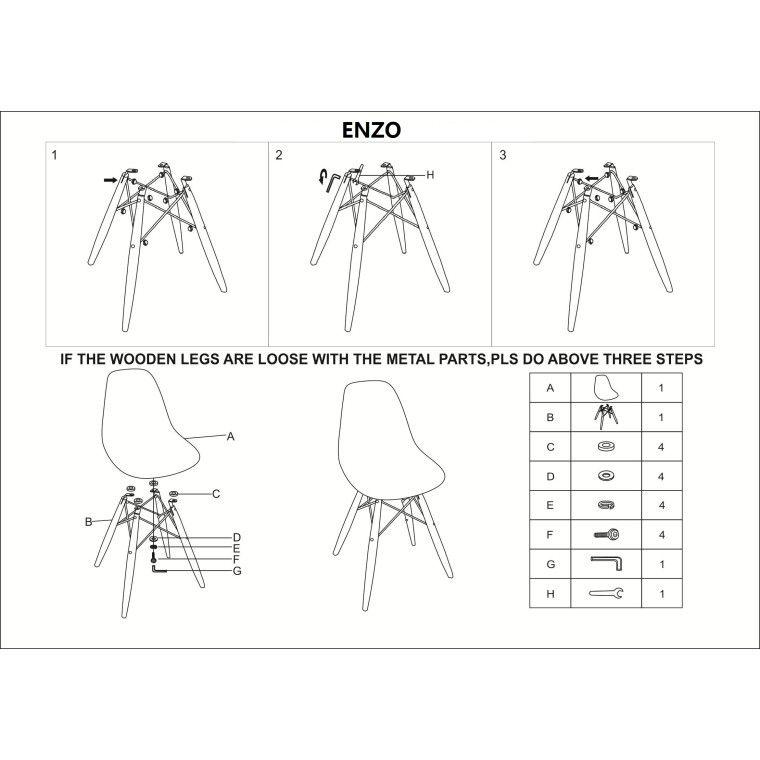 Стул Signal Enzo | Белый - 4