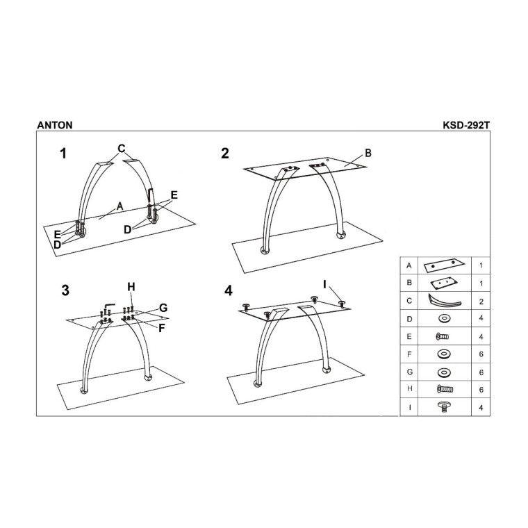 Стол обеденный Halmar Anton | Черный - 3